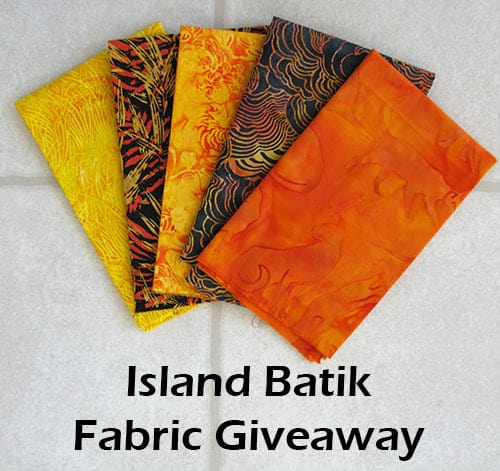 Win Island Batik fabrics at Freemotion by the River