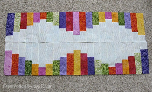 A different way of sewing the table runner
