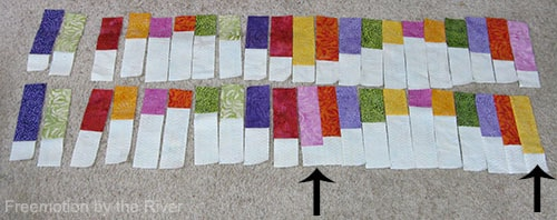 Switching just one color in table runner
