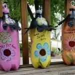 DIY Soda Bottle Birdhouses