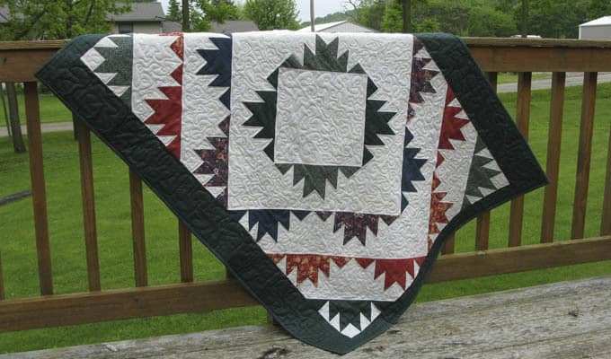 Delectable Mountains Free Quilt Block Pattern Freemotion
