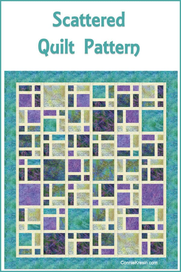 Scattered quilt pattern fast and easy to make!
