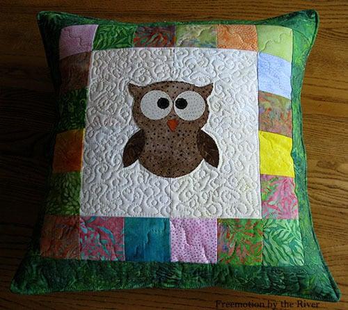 Topstitch around pillow
