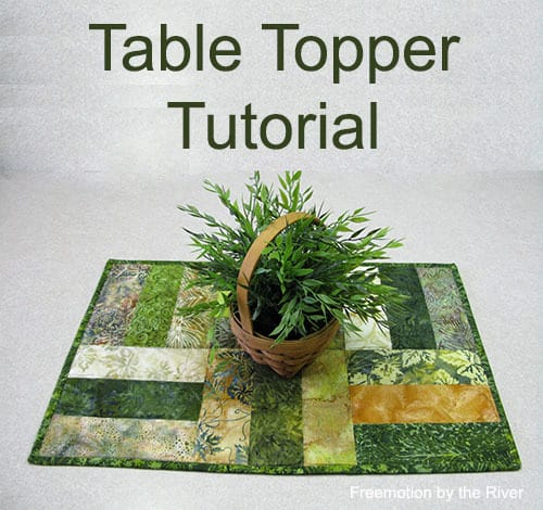 Batik Table Topper Tutorial