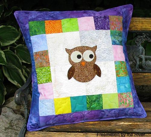 Purple Owl Pillow