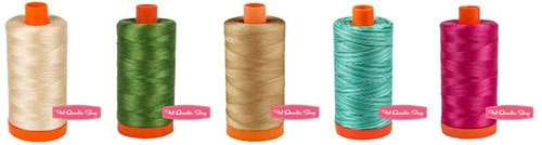 Giveaway for 5 spools of 50wt Aurifil thread