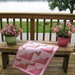 Classic & Vintage Hope Blooms Log Cabin Quilt