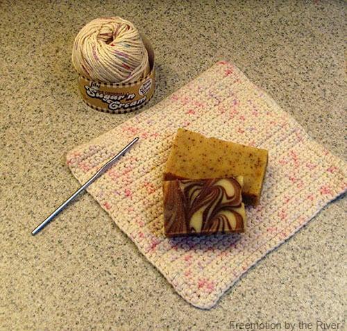 Crochet yarn for dish cloths