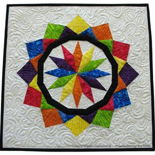 Paper Pieced Celestial Star in Batiks