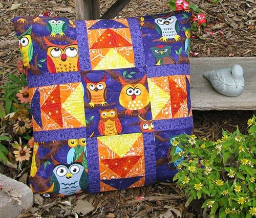 Nite Owls Pillow Tutorial