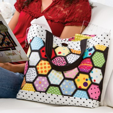 free AccuQuilt Stained Glass Tote pattern