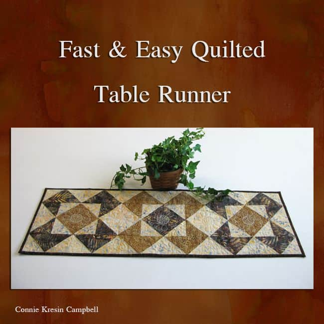 Fast and Easy Batik Table Runner tutorial for AccuQuilt
