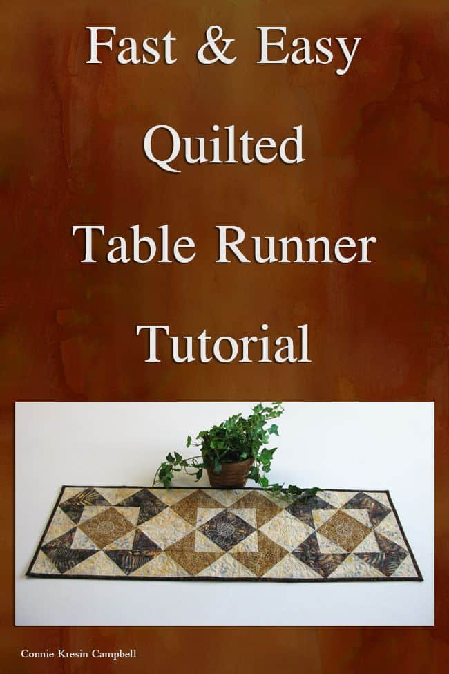 Fast and Easy Roasted CoffeeRoasted Coffee Table Runner tutorial