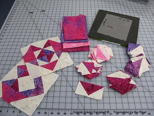 Batiks for Valentine project