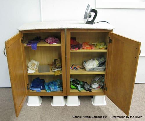 DIY Ironing Board Station