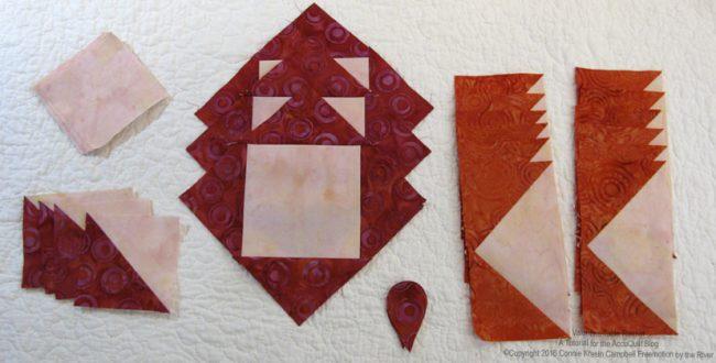 .AccuQuilt batik block pieces