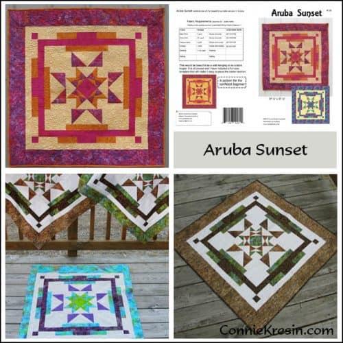 Aruba Sunset Pattern Store Collage