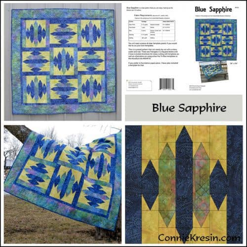 Blue Sapphire Pattern Store Collage - ConnieKresin.com