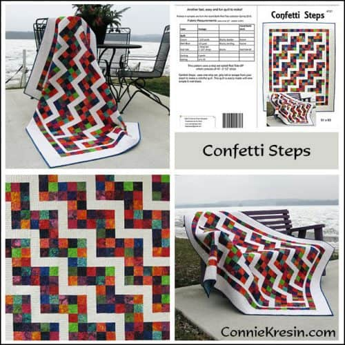 Confetti Steps Pattern Store Collage - ConnieKresin.com