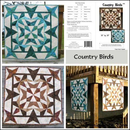 Country Birds Pattern Store Collage - ConnieKresin.com