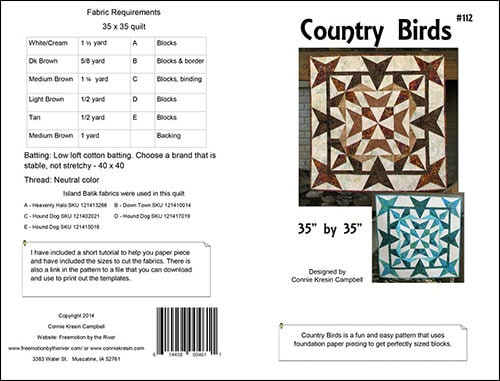 Country Birds pattern by Connie Kresin Campbell