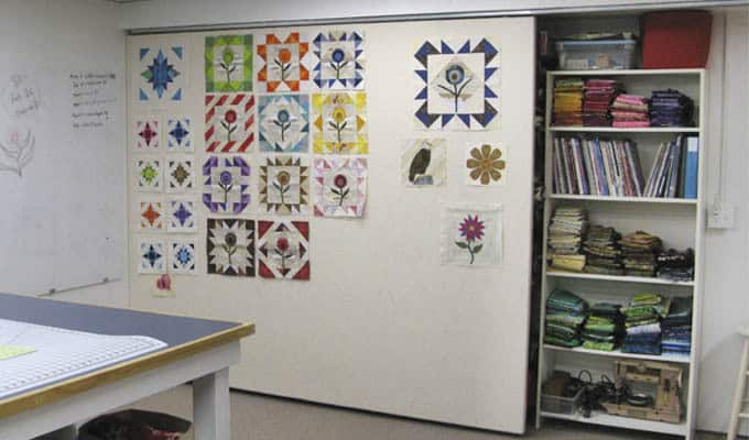 DIY Sliding Quilt Design Wall