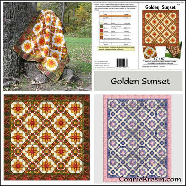 Golden Sunset Pattern Store Collage - ConnieKresin.com