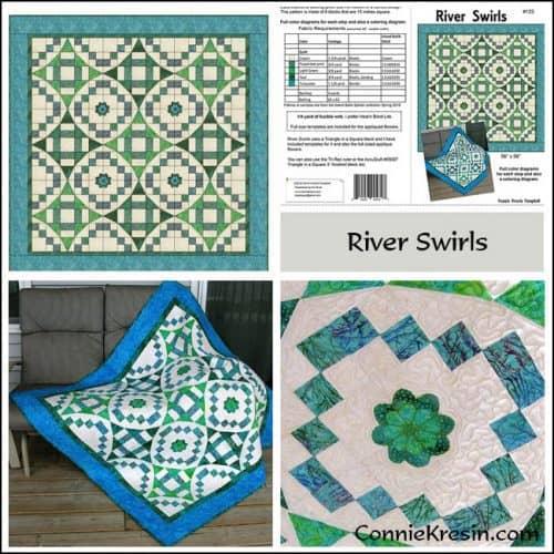 River Swirls Pattern Store Collage - ConnieKresin.com