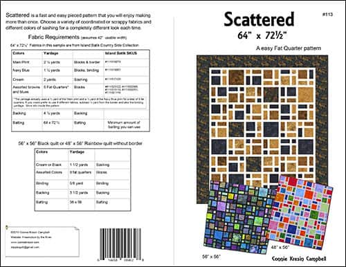 Scattered Quilt pattern by Connie Kresin Campbell
