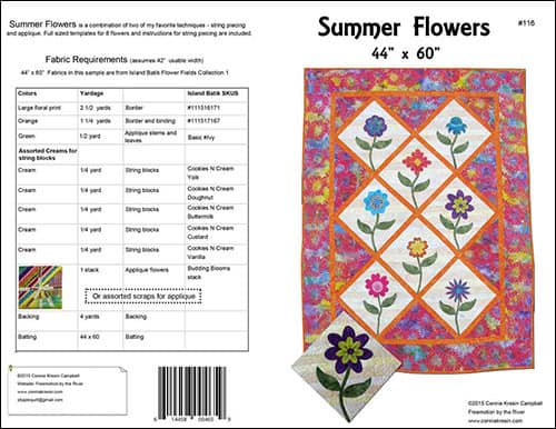 Summer Flowers Quilt Pattern cover