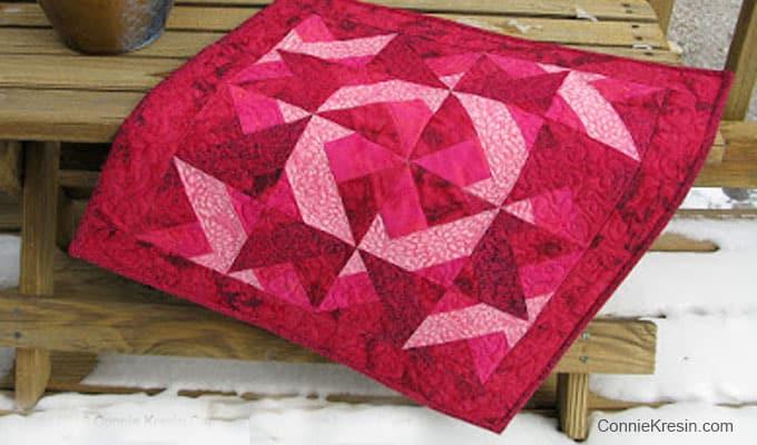Red Batik Valentine wall hanging tutorial