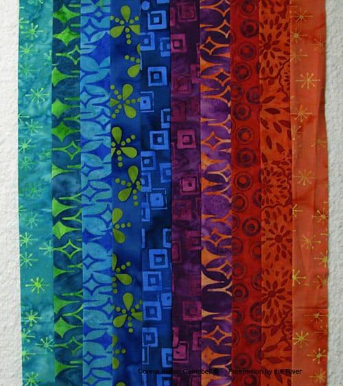 Bargello start using the Lavish collection from Island Batik