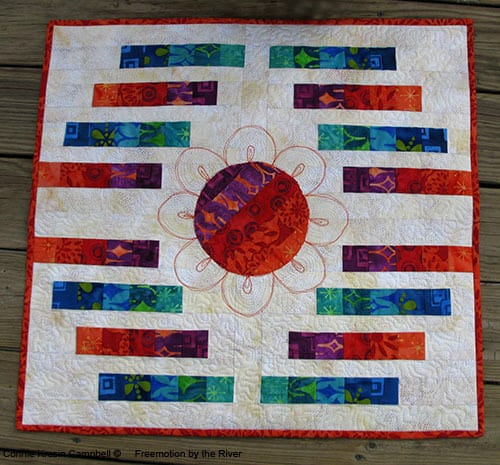 Lavish collection from Island Batik and a bargello quilt design miniature