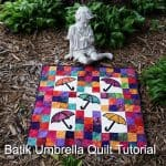 Batik Umbrella Quilt Tutorial