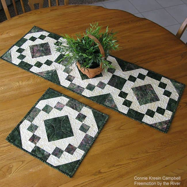 Table runner on dining room table