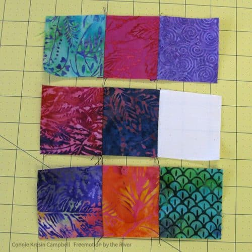 Batik umbrella bock sewn in sections