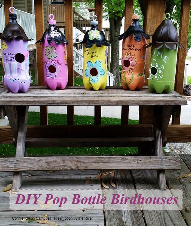 DIY 2 Liter Bottle Birdhouses
