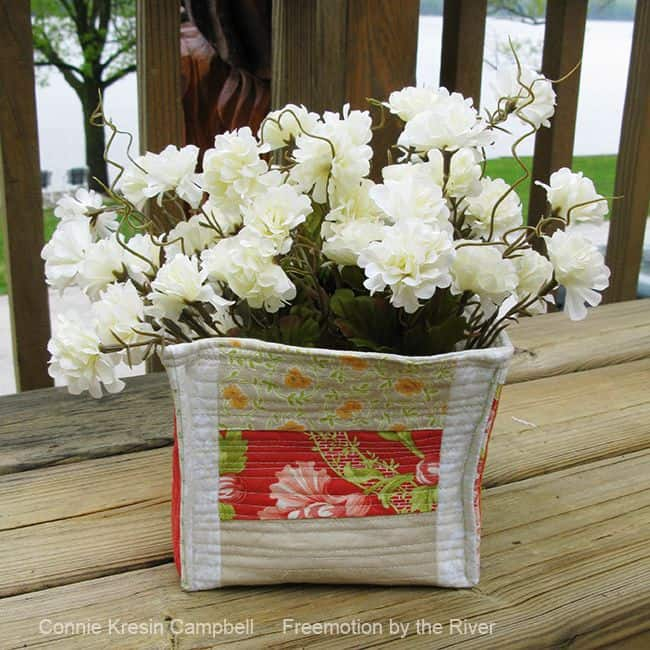 Scrappy Strippy Fabric Basket
