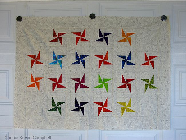 Quilt hung by magnets