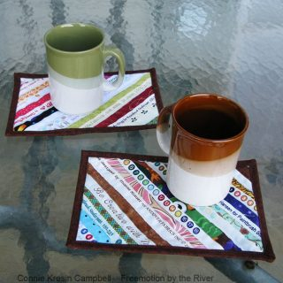 Selvage Mug Rugs Tutorial