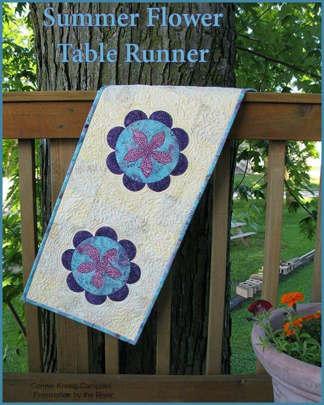 Summer Flower Runner Pin