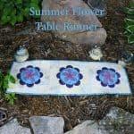 Summer Flower Table Runner Tutorial