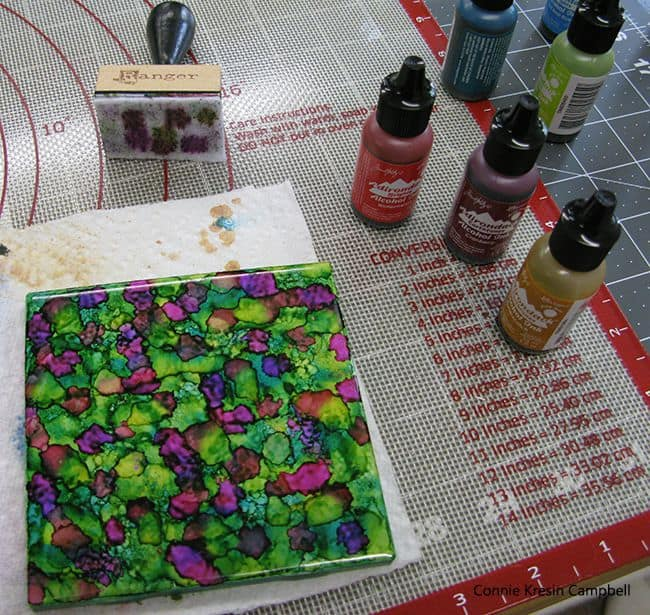 Alcohol ink tutorial step five