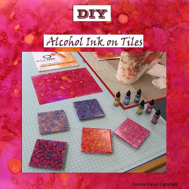 DIY Alcohol Ink Tile Tutorial