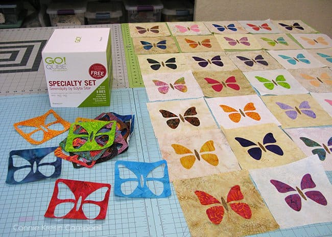 Batik Butterflies from the GO! QUBE Specialty set