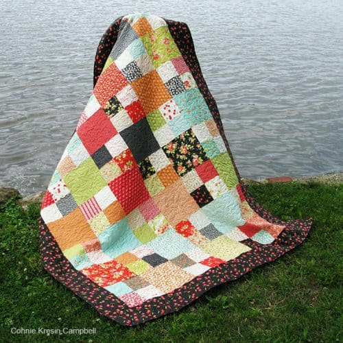 Checkmate Quilt by the river free pattern