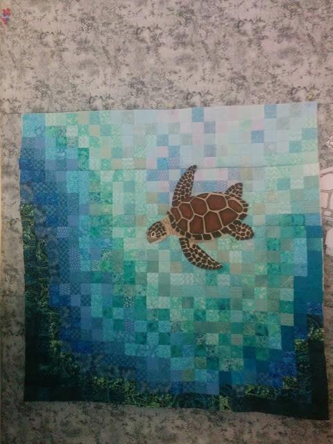Sea turtle applique