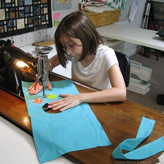 Teaching children to sew