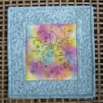 DIY Painted Fabric Art Mini Quilt