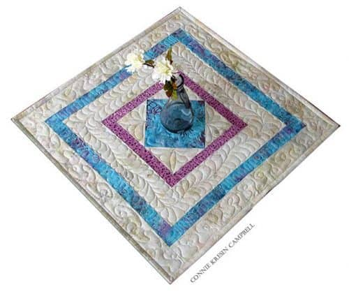 Square in a square table topper gift